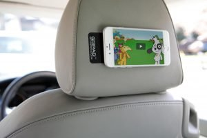 Stick phone to back of a car seat