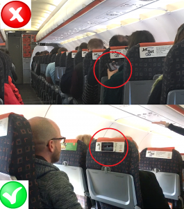 Stick phone to any surface - stick phone to the back of a seat